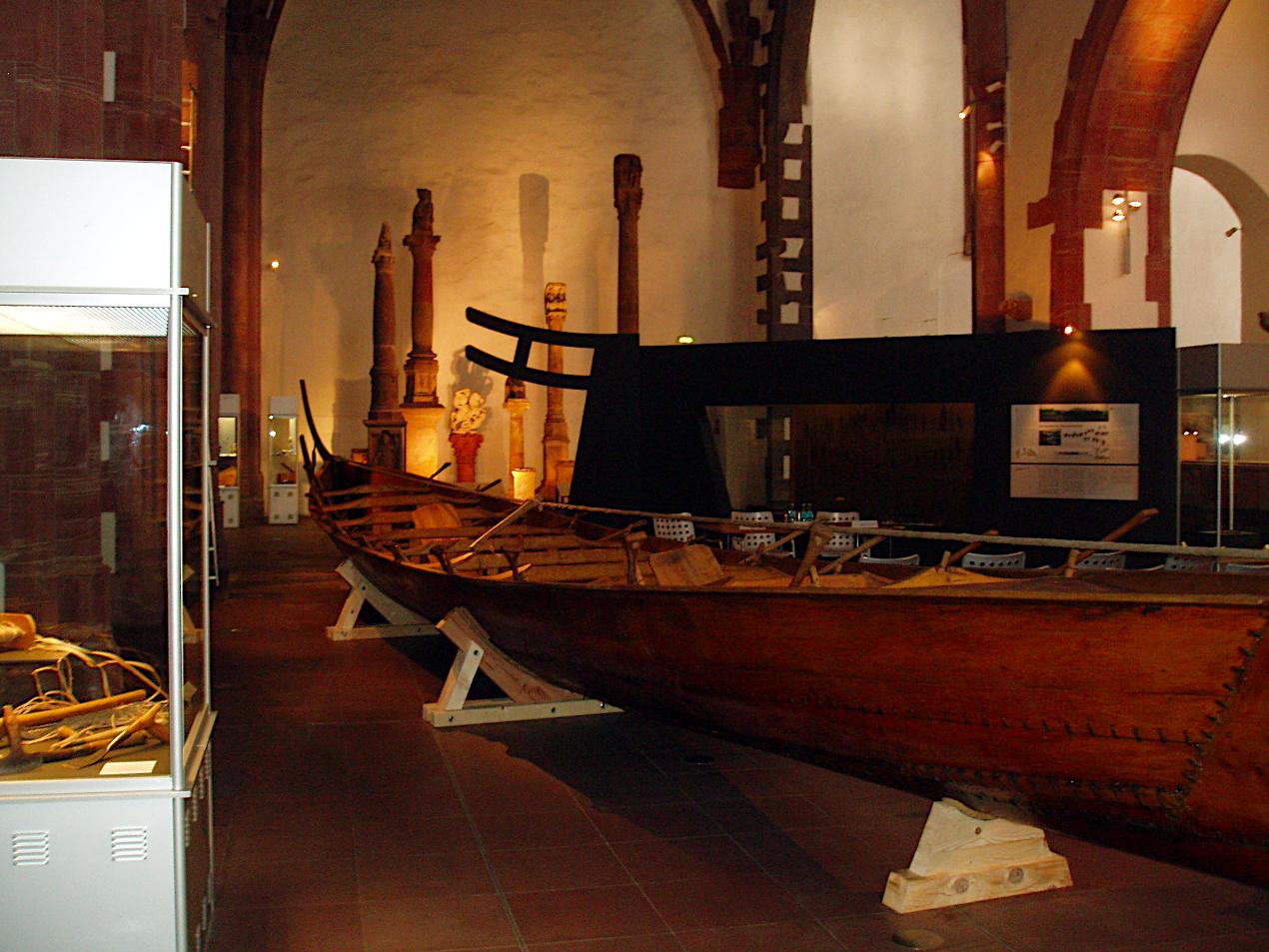 Tilia på plads i museet.
