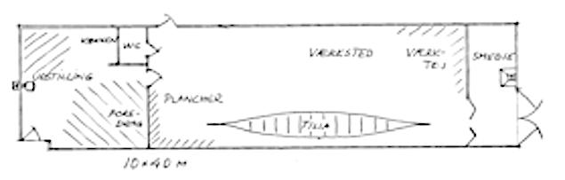 Plan over Lindeværftet.